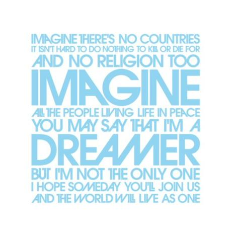 Imagine lyrics beatles song